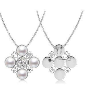 4 Pearls Pendant Necklace